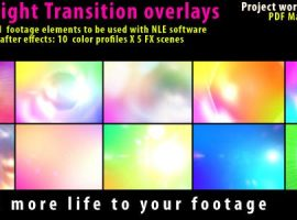 موشن گرافیک نور فلش | Flash Light Transition Overlay Lense Pack